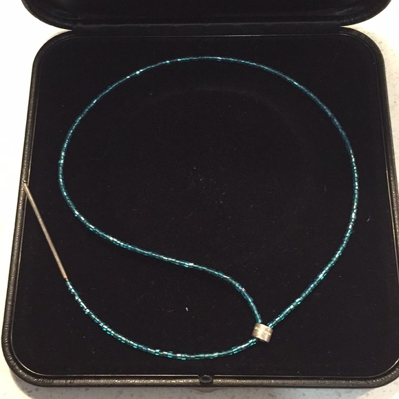 dyrberg kern Jewelry - Dyrberg Kern turquoise sparkle lariat necklace